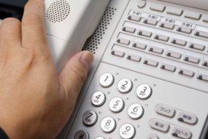 店舗への電話スタッフの対応